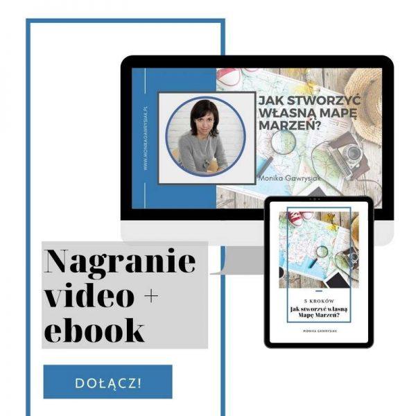 Jak stworzyć własną Mapę Marzeń - video i ebook - Monika Gawrysiak psycholog