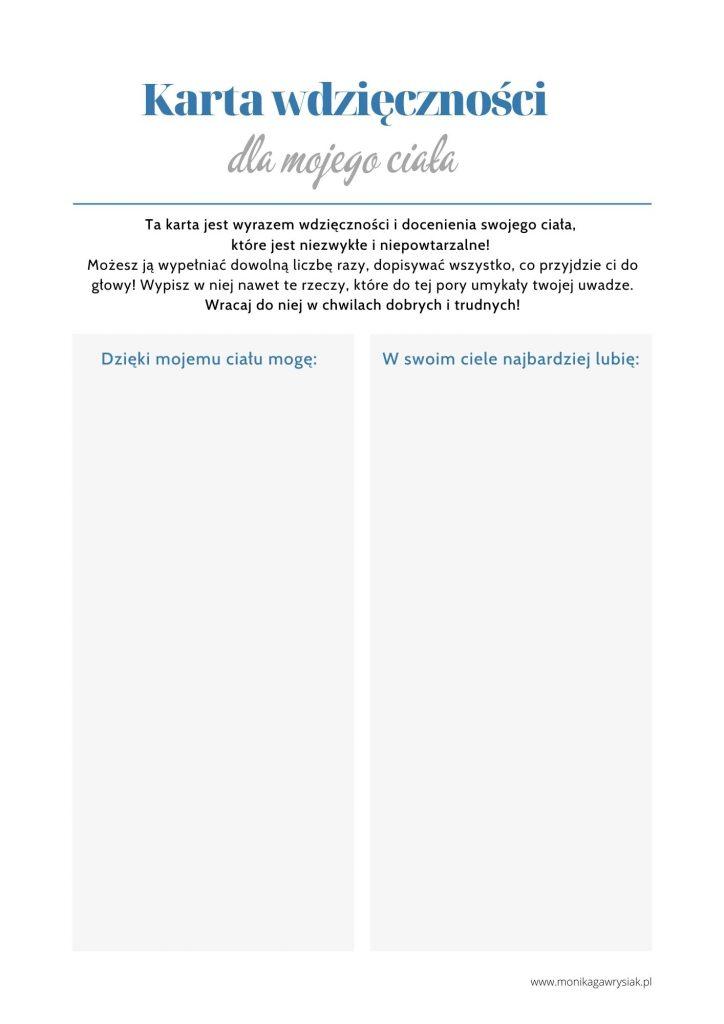Karta wdziecznosci dla swojego ciala monikagawrysiak.pl  724x1024 - Jak budować pozytywny obraz własnego ciała?