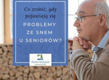 Problemy ze snem u seniorów - psycholog Monika Gawrysiak