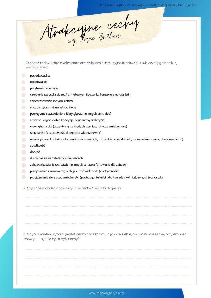 Atrakcyjne cechy wgJoyce Brothers monikagawrysiak.pl  724x1024 - Jesteś kimś więcej, niż myślisz - recenzja książki