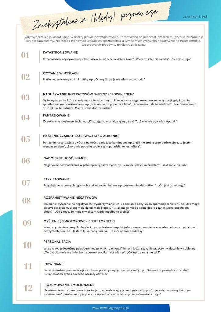 Znieksztalcenia poznawcze monikagawrysiak.pl  724x1024 - Czypotrafisz dostrzec swoje błędy wmyśleniu?